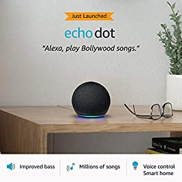 All-new Echo Dot (4th Gen) | #1 smart speaker brand in India with Alexa (Black)