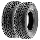 Pair of 2 SunF A021 TT Sport ATV UTV Dirt & Flat Track Tires 25x8-12, 6 PR, Tubeless