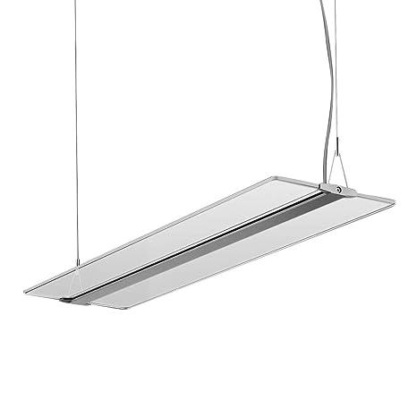 KLARS Lámpara colgante 48W regulable LED Moderna Lámpara de Techo Panel LED Iluminación colgante Ajustable Iluminación de techo para oficina mesa de ...