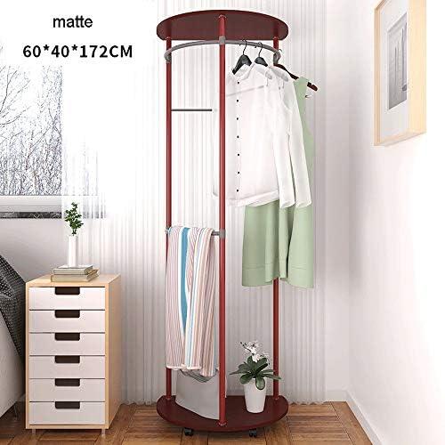 玄関収納 貯蔵の棚が付いている耐久の半円形の掛かる衣服の棚のスペース節約のコートの棚 (Color : Matte, Size : 60×40×172cm)