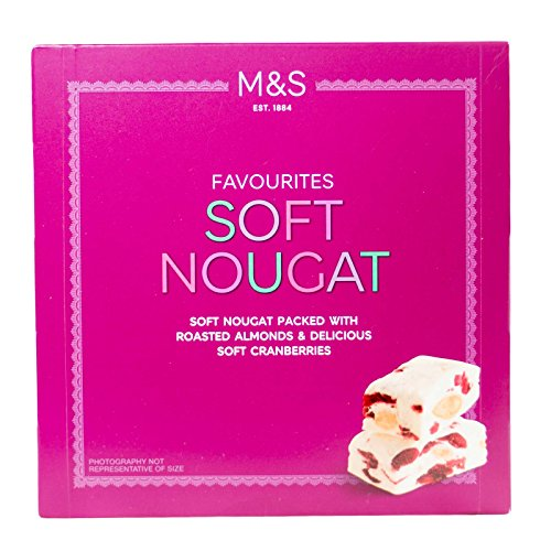Marks & Spencer Soft Nougat Pieces Packed With Roasted Almonds & Delicious Soft Cranberries 156g by Marks & Spencer