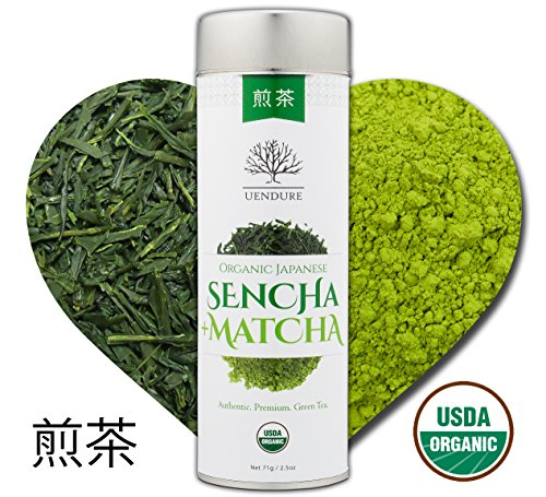 (Sencha Loose Leaf Green Tea Mixed with Matcha Powder - Certified Organic - Authentic Japanese Tea)
