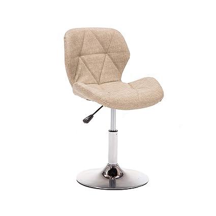MS Furniture Bar Stool High Stool Stainless Steel Hemp Cushion Backrest  Optional/Sitting Height 40