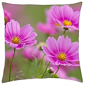 Charming Cosmos Flowers - Throw Pillow Cover Case (18