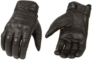 Milwaukee Leather Men's Premium Leather Perforated Cruiser Gloves MG7500 (M)