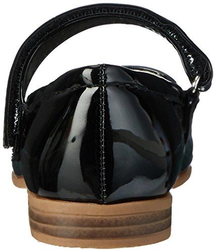 Indigo Mädchen 424 079 Geschlossene Ballerinas Schwarz (Black)