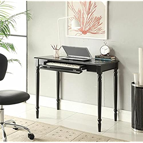 convenience concepts french country desk 36 inch black - Black Writing Desk