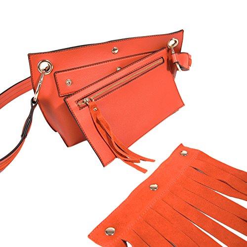 e01c01342c38cb ... Parfois - Taschen Echtes Wildleder Aufzeichnen Orange - Damen Orange  zMNyee