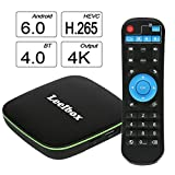 2017 Version Leelbox Q1 Android 6.0 TV Box with BT 4.0 Supporting 4K (60Hz) Full HD /H.265 /WiFi