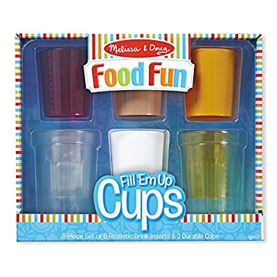 Melissa & Doug Create-A-Meal Food Fun – Fill 'Em Up Cups - Play Food and Kitchen Accessories Role Play Toy: Toys & Games