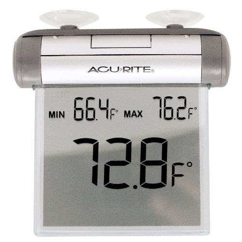 Digital Window Thermometer - AcuRite 00603A3 Digital Window Thermometer