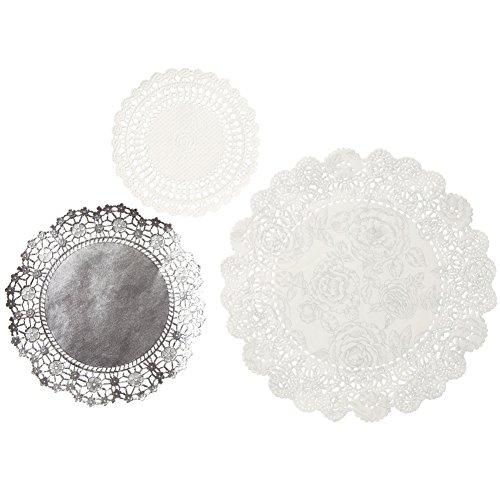 Talking Tables Porcelain Doilies Silver product image