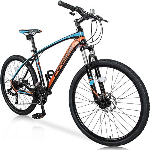 "Merax 26"" Mountain Bicycle with Suspension Fork 24-Speed Mountain Bike with Disc Brake, Lightweight Aluminum Frame"