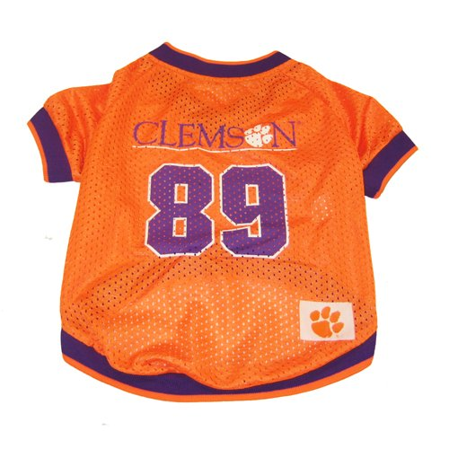 NCAA Dog Jersey, Large, Clemson University Tigers