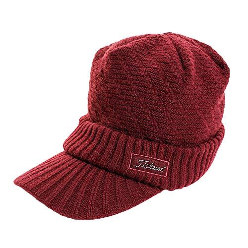 タイトリスト TITLEIST 帽子 ツバ付きニットキャップ HW6CVK レッド フリー