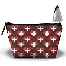 Switzerland Love Cosmetic Bag Makeup Bags Pouch Stationery Bag Pencil Base Learning Bools Handbag Organizer Bag