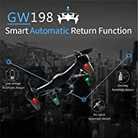 Nacome Newest Global Drone,5G WIFI Follow Me Function Brushless Motor Wiht 120° Wide-angle HD Camera RC Quadcopter Remote Controls Helicopter Toy/ Brithday Gift (Blue)