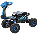 Rc Car,DeXop 4WD 2.4Ghz Remote Control Car 1:18 Scale Crawlers Off Road Racing Vehicle Blue
