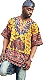 Dupsie's Gye Nyame Traditional African Print Dashiki Shirt (3XL)