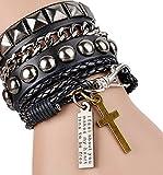 Most Beloved Cool Fashion Street Rock Punk Leather Multilayer Bracelet