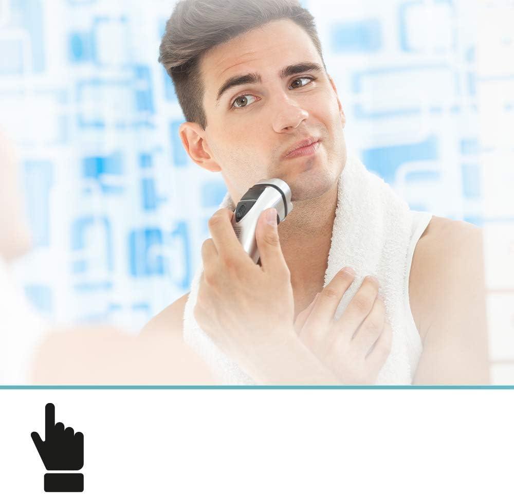 Spiegel ID ZUSATZOPTION f/ür LED Badspiegel: Steckdose - Position: unten Links 230V Anschluss auf der Spiegeloberfl/äche Farbe: Chrom
