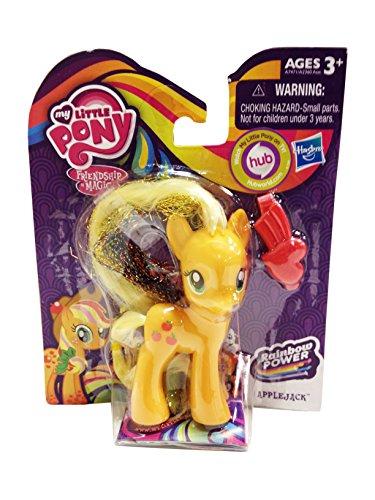 My Little Pony Rainbow Power Crystal Ponies Set of 4 - Rarity, Pinkie Pie, Applejack & Princess Twilight Sparkle