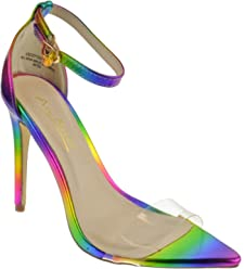 66908ff7fbb Anne Michelle Exception 10 Womens Single Band Open Toe Platform Heeled  Dress Sandals