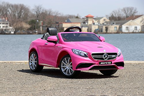 7bd451bd0ba Image of the First Drive Mercedes Benz S63 Pink 12v Kids Cars - Dual Motor  Electric