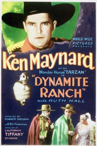 Ken Maynard and Ruth Hall in Dynamite Ranch Wonder Horse Tarzan 24x36 Poster