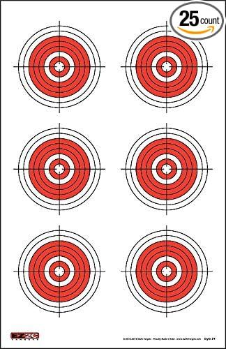 Amazon.com: 25, 50, Rifle de 75 yard objetivos (25 Pack) por ...