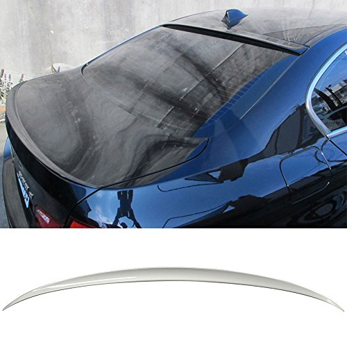 Pre-painted Trunk Spoiler Fits 2011-2016 BMW 5-Series F10   M5 Style Painted #354 Titanium Silver Metallic ABS Rear Tail Lip Deck Boot Wing Other Color Available by IKON MOTORSPORTS   2012 2013 2014