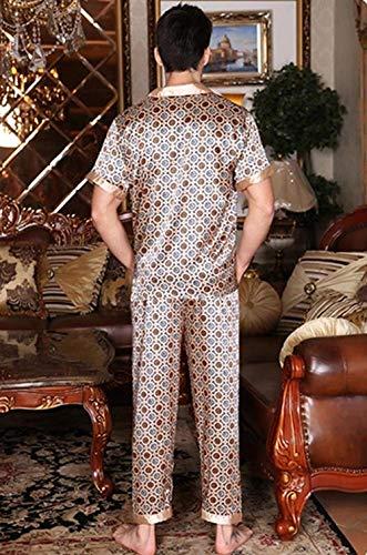 Leggero Estivo Piece Beige2 Di Momme Corta Marca Homewear Uomo Da Balneazione Manica Bolawoo Two Lungo Loungewear Pigiama Mode Sleepwear wxqfCIA8