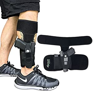 Concealed Carrier (TM) Ankle Holster for Concealed Carry Pistol | Universal Leg Carry Gun Holster with Magazine Pouch for Glock 42, 43, 36, 26, S&W Bodyguard .380.38, Ruger LCP, LC9, Sig Sauer