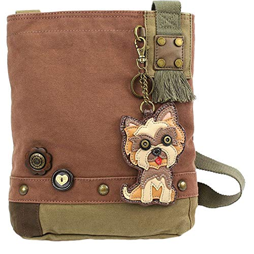 color Borsa Chala a Terrier tracolla Yorkshire malva Patch qw8wtY