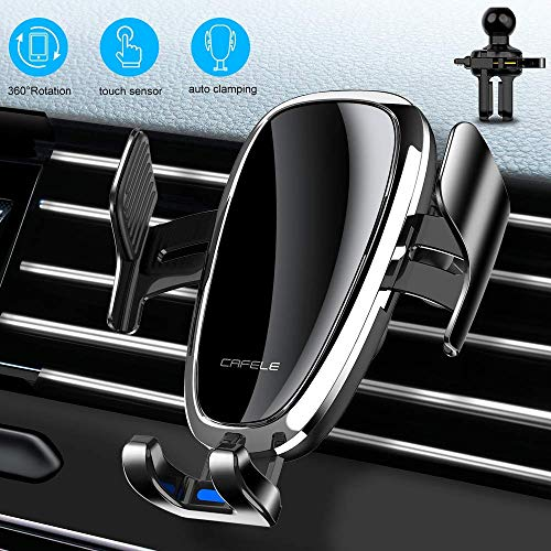 Phone Holder for Car,Touch Sensing Phone Mount,Air Vent Cell Phone Holder,Auto Clamp Clip Adjustable Stand Cradle Compatible with iPhone 11 Pro/XR/XS Max/X/8/7 Etc