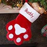 Personalized Dog Paw Christmas Stocking