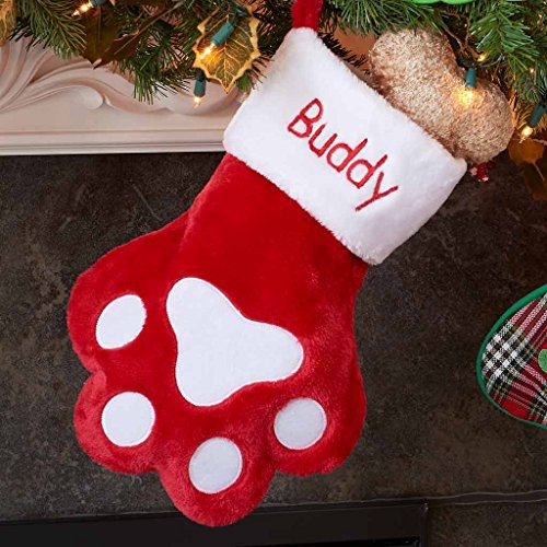 DIBSIES Personalization Station Personalized Dog Paw Christmas Stocking]()