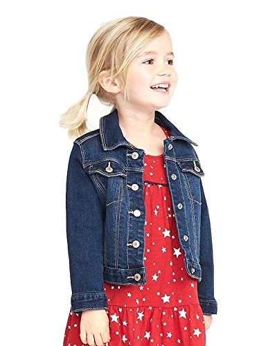 Old Navy Back to School Sale for School Toddler Girls Denim Jacket! (Medium Dash, 5T) ()