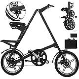 Happybuy Folding Bike 16 Inch Folding Bicycle A-Bike Folding Bikes for Adults Lightweight Foldable Bike