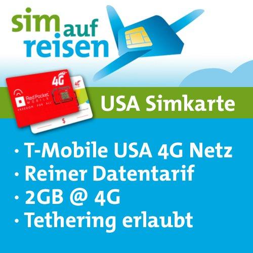 Sim Karte Usa Urlaub.Usa Prepaid Daten Sim Karte Im T Mobile Usa Netz Mit 2gb Und Tethering Von Sim Auf Reisen