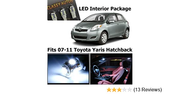 Amazon.com: Classy Autos Toyota Yaris WHITE Interior LED Package (6 Pieces): Automotive