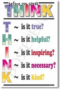 amazoncom think before you speak classroom