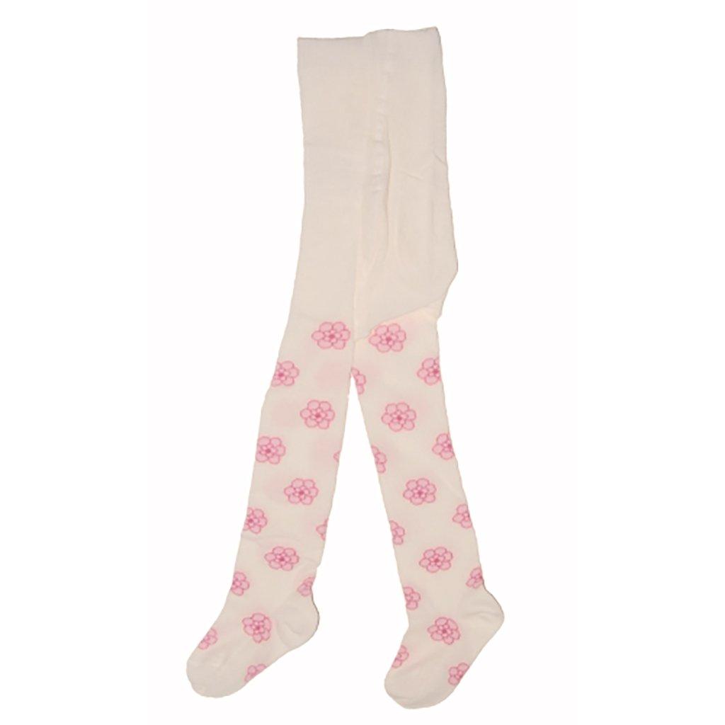 Gr/ö/ße 68-74 80-86 Kleines Kleid M/ädchen Baby-Strumpfhose aus Baumwolle mit Blumen in Rosa und Beige s/ü/ße Krabbel-Strumpfhose mit Zwickel FEIN-STRUMPFHOSE mit bequemem Gummibund 92-98