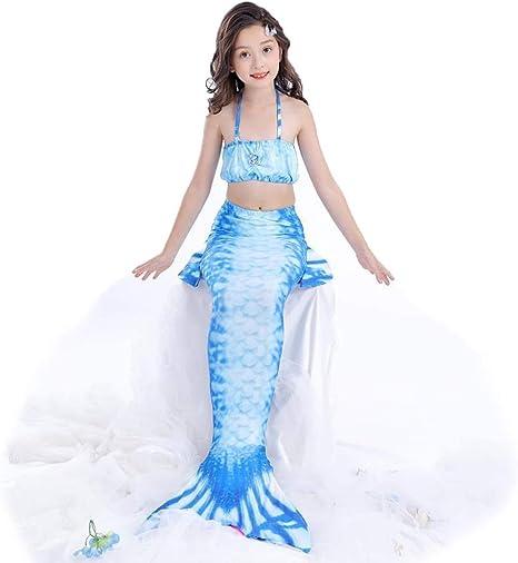 MARYYUN Traje De Bano Sirena con Aletas,Disfraz De Sirena Princesa ...