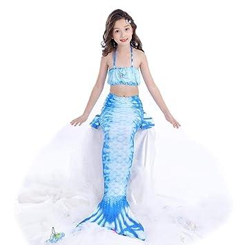 MARYYUN Traje De Bano Sirena con Aletas,Disfraz De Sirena ...