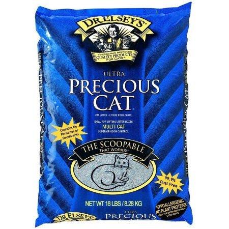 Precious Cat - 2 Pack Precious Cat Ultra Premium Clumping Cat Litter 18 Pound Bag