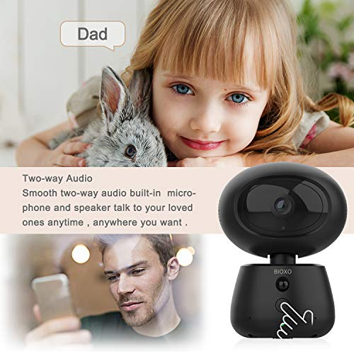 Baby Monitor, Bioxo Indoor 2.4G Wireless IP Security Surveillance System Night Vision for Pet/Office/Home Camera with Cloud Storage Two Way Audio Security Camera