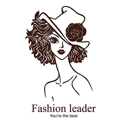 Dark Brown Home Room Decor DIY Fashion Lady Pattern Wall Sticker