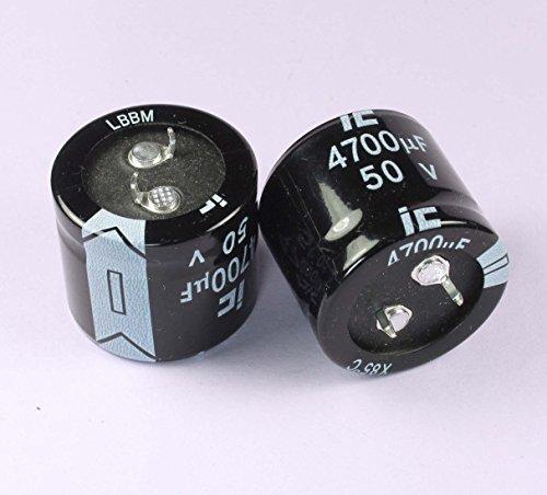 (NG #15) 4pcs Illinois Capacitor LBBM 4700uF 50v Radial Electrolytic (IC) 30mm X 26.5mm
