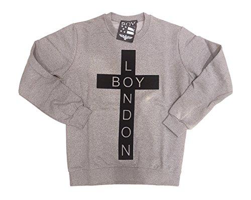 uomo Boylondon grigia grigia Felpa uomo Boylondon da Felpa da grigia uomo da Boylondon Felpa wzqxAIBq